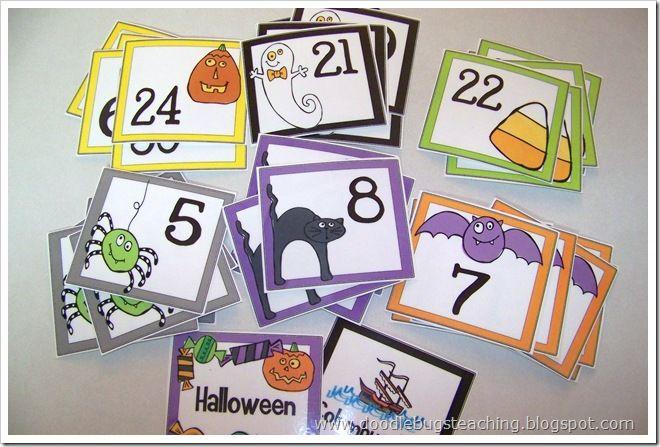 Festive calendar dates for the classroom.