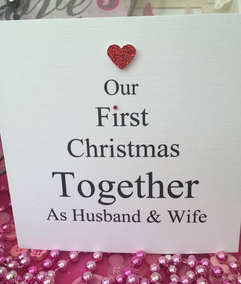 Personalised Christmas Card First Christmas Husband and Wife Couple ...