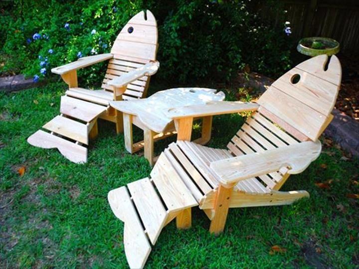 Adirondack sedie ~ Cool fish pallet adirondack chair ideas pallet furniture diy