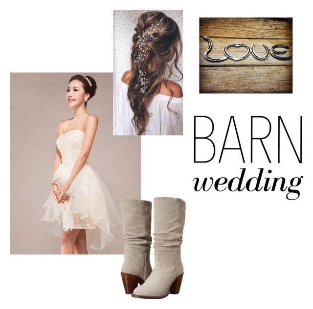 """""""Barn Wedding"""" by rebeccawinter0 ❤ liked on Polyvore featuring Lucchese, bestdressedguest and barnwedding"""