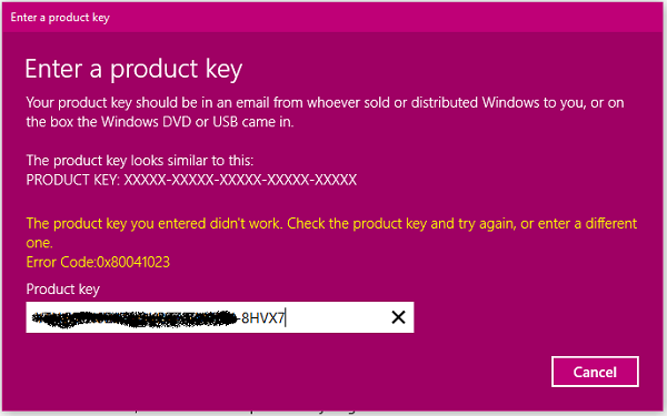 Windows Activation Error Code 0x80041023   Windows in 2019   Error