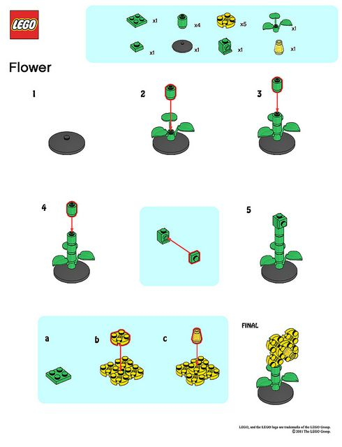 Lego Store Mmmb May 11 Flower Instructions Cool Lego