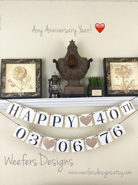 40th Anniversary Banner Wedding By WeefersDesigns Decorations30th