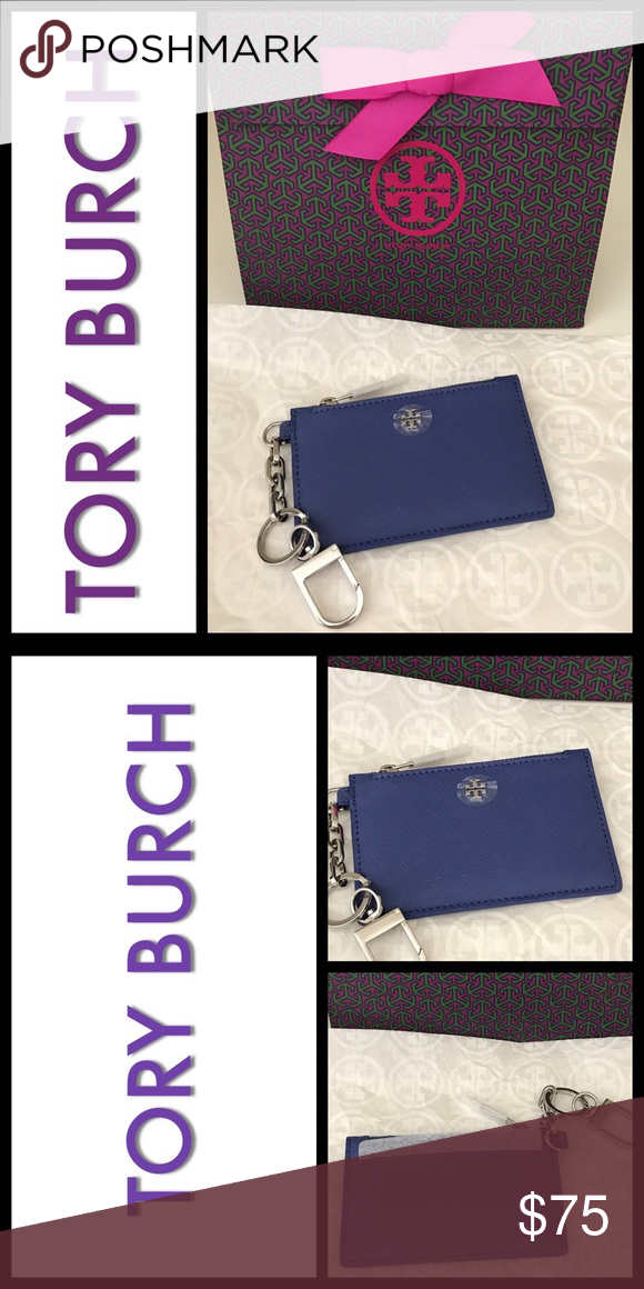 🆕Tory Burch Robinson Zip Card Key Fob Tory Burch Robinson Zip Card Key Fob.  NEW with tags. Color Marlin.  Tory Burch miller sandals in silver are listed separately. What a great gift bundle🎁 Tory Burch Accessories Key & Card Holders