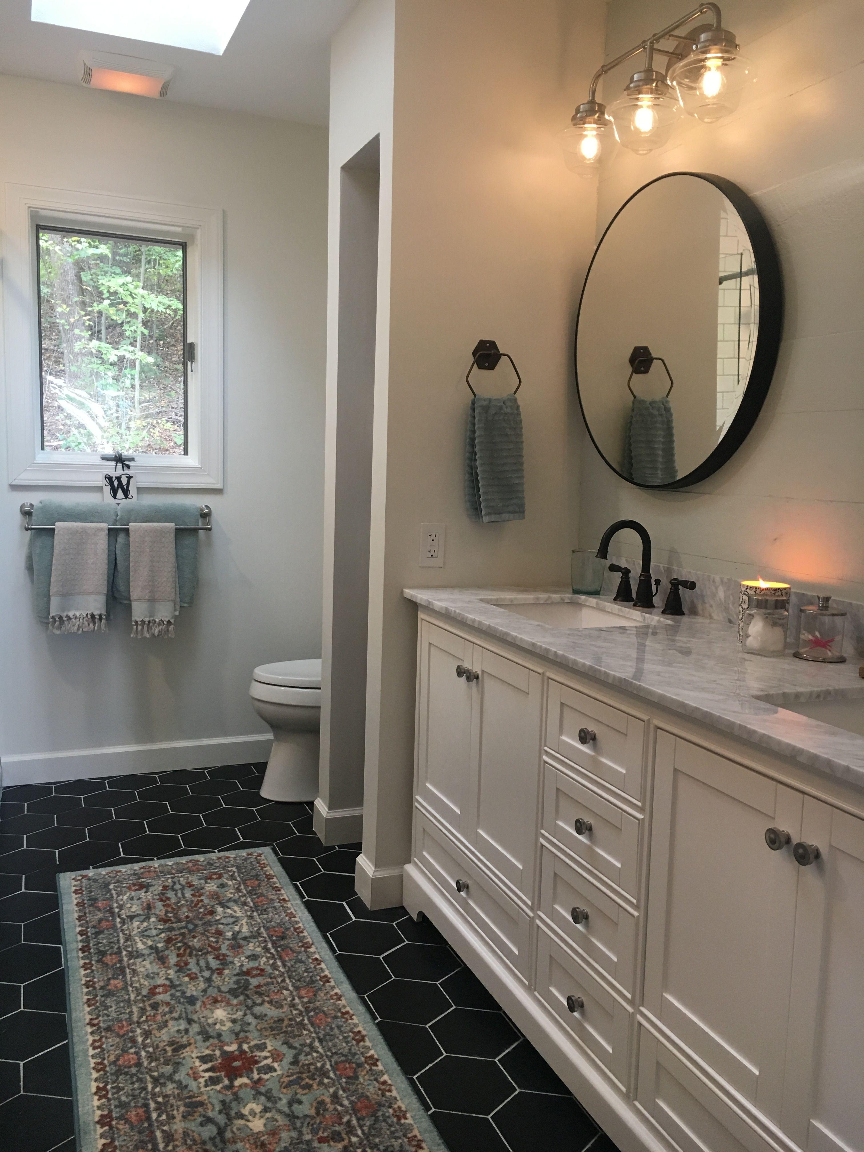 Wayfair Round Mirrors In Oil Rubbed Bronze Black Hex Tile White Double Bathroom Fixtures Brushed Nickel Black And White Tiles Bathroom White Vanity Bathroom