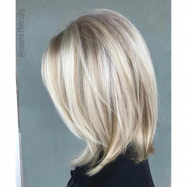 Human Hair Bob Wig Ash Blonde with Platinbum Blonde #naturalashblonde