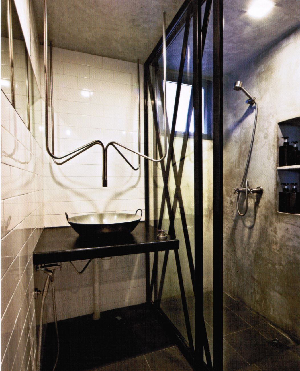 Screeding Bathroom Floor Cement Screed Wall In Toilet With White Walls Shower Screen With