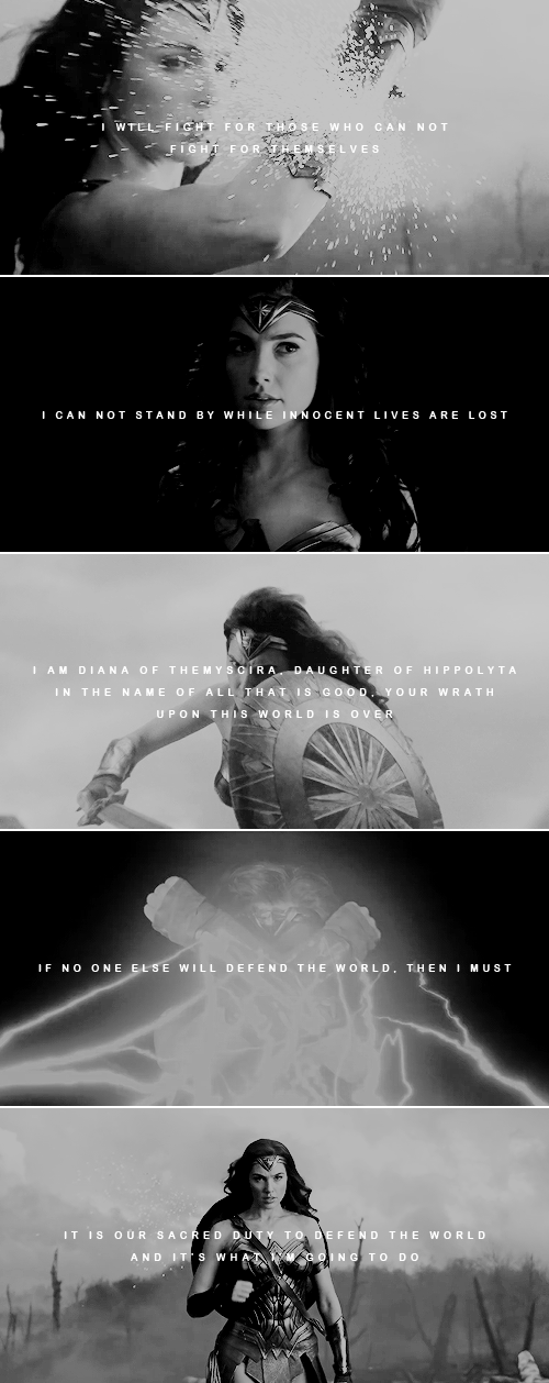 Quotes From Wonder Woman Movie: Only Love Will Truly Save The World. #wonderwoman