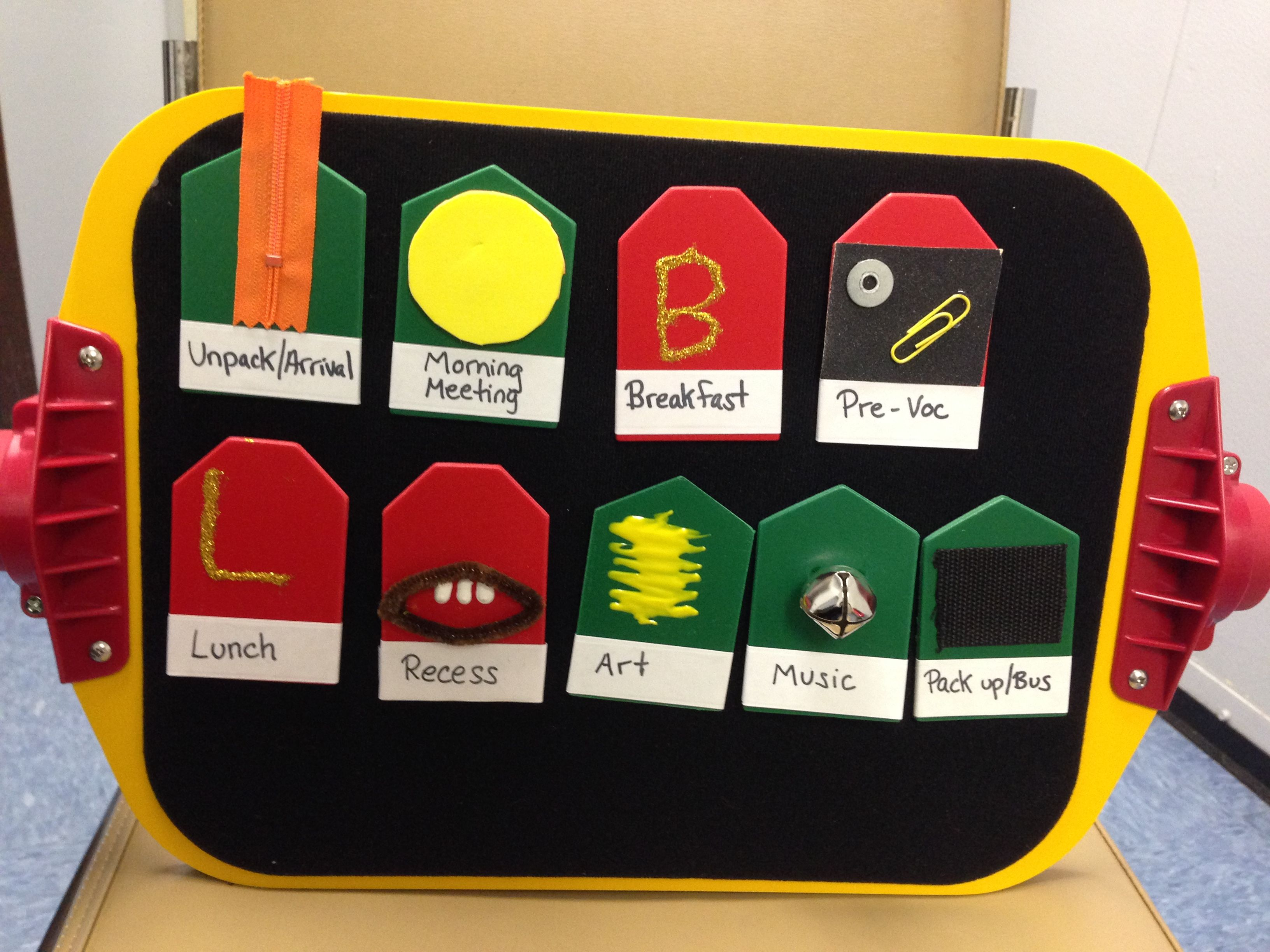 Tactile Schedule For Students With Visual Impairments And Multiple Disabilities