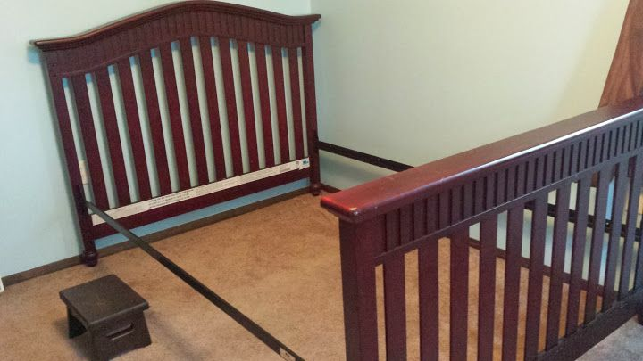 Babi Italia Classic Eastside Lifestyle Convertible Crib Rails And Slats For Double Bed Conversion