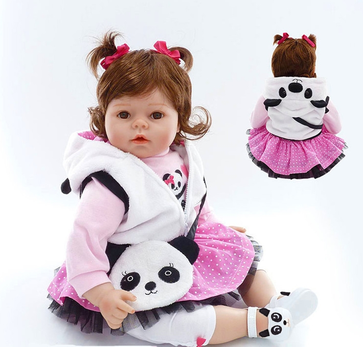 """22/"""" cute lovely Arianna Tatiana toddler silicone reborn doll for child best gift"""