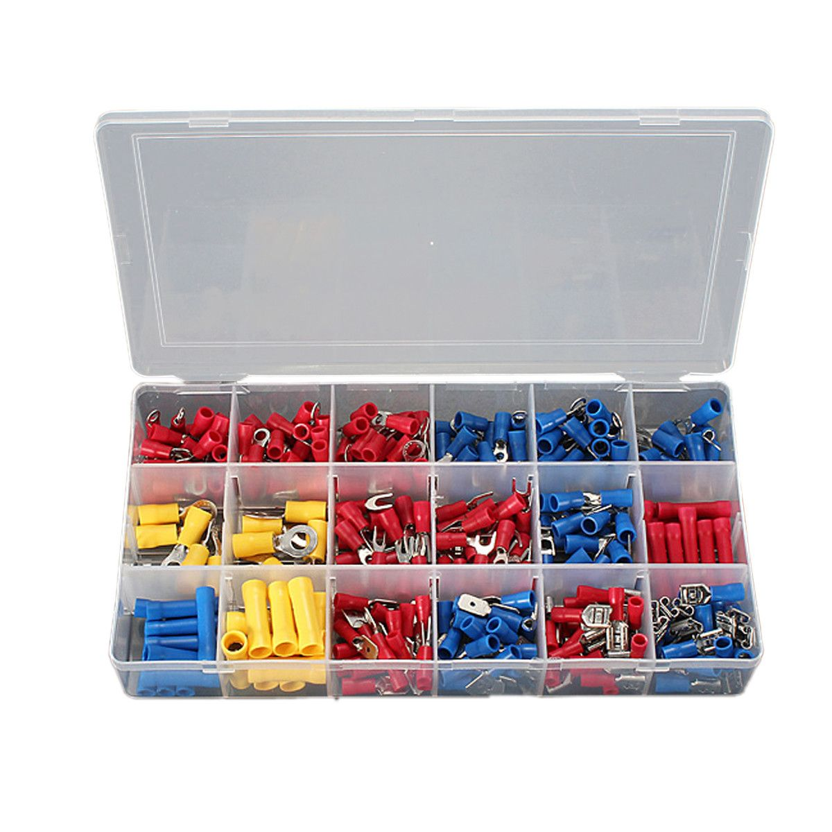 300pcs Insulated Electrical Wire Terminals Crimp Connector Spade Kits Electrical Wiring Electricity Wire Connectors