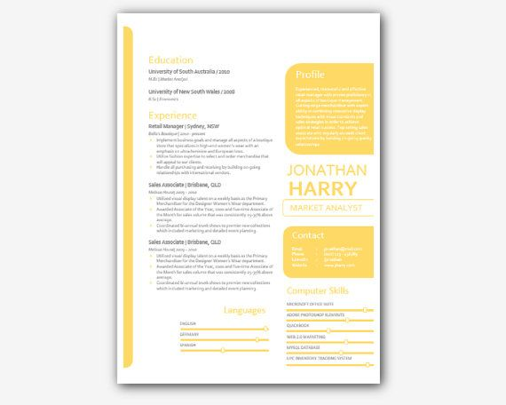 Mothers Day Sale Gold Modern Microsoft Word Resume by INKPOWER - modern day resume