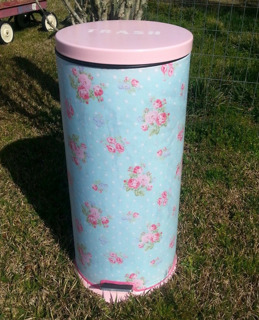 A Pretty Trash Can Makeover For A Cottage Style Kitchen