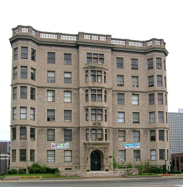 The Palms Apartments Detroit MI. Albert Kahn Design 1903
