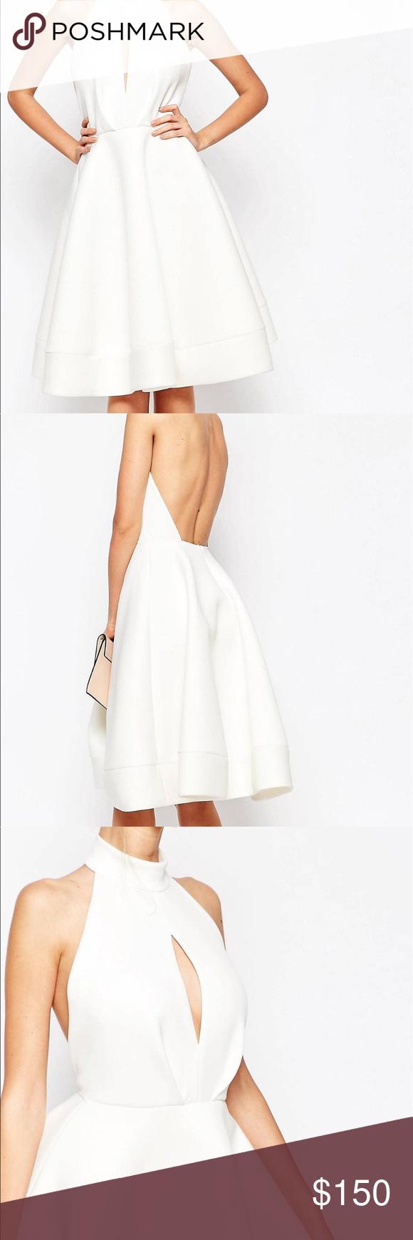 50++ Asos white halter neck dress inspirations