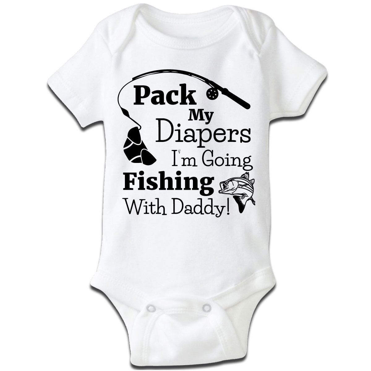 I 39 M Going Fishing With Daddy Baby Grow Fish Babies