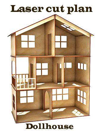 Dollhouse Vector Model For Laser Cut Instant Download