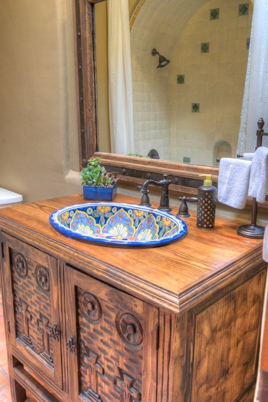 HANDPAINTED MEXICAN SINKS | Guest bathroom ideas | Spanish ...