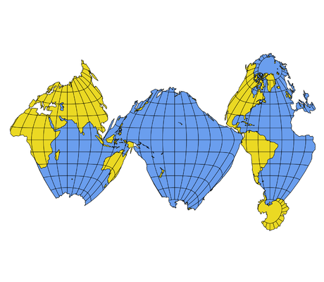 This interrupted map by athelstan spilhaus leaves continents this interrupted map by athelstan spilhaus leaves continents completely intact and interrupts oceans only at minimum junctions gumiabroncs Image collections