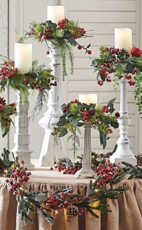 97 awesome christmas decoration trends ideas 2018 - Herbstdekoration 2018 ...