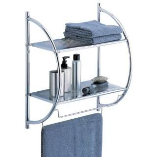 Check out the Organize It All 1753W-1 2 Tier Shelf in Chrome with Towel Bars