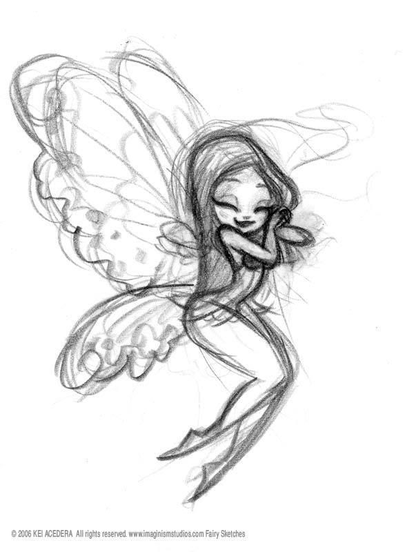 Darling fairy sketch my sister would love this