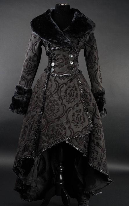 details zu damen mantel gothic lolita evil queen coat victorian rq barock dracula black neu. Black Bedroom Furniture Sets. Home Design Ideas