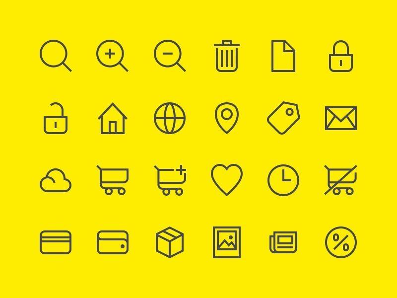 Icon design set by Jens Windolf #icon #icondesign #iconic #icons #iconset #web #ecommerce #ui #picto #symbol #sign #line #outline
