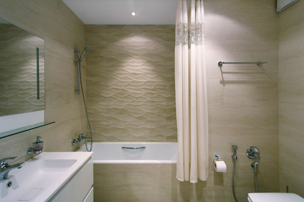 Beige Tiled Bathrooms Minimalist zeworkroom project 13 minimalist moscow apartment with a bright
