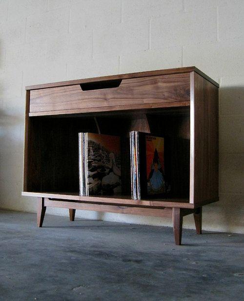 randyjhunt:  Solid Walnut Record Cabinet - Handmade by...