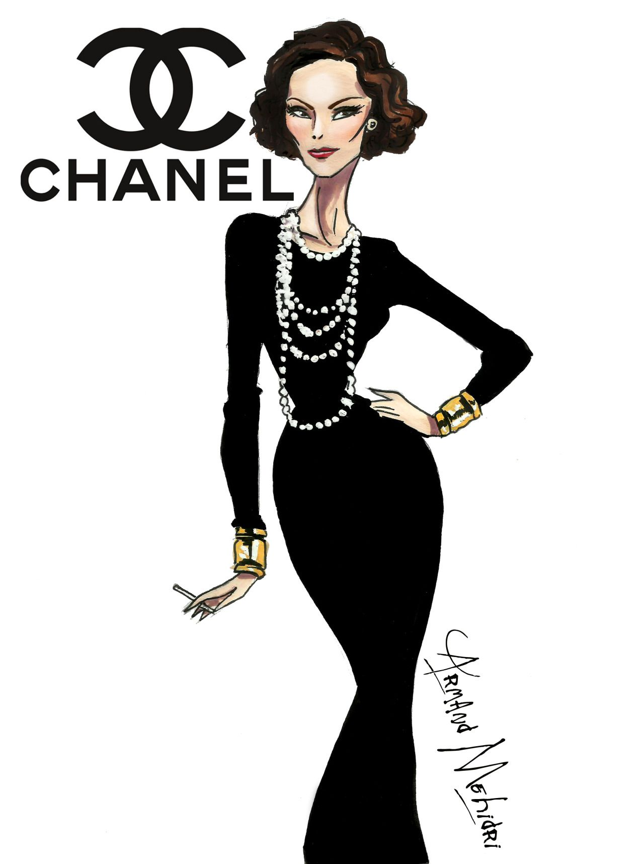 Coco Chanel Fashion Illustrations Images Galleries With A Bite
