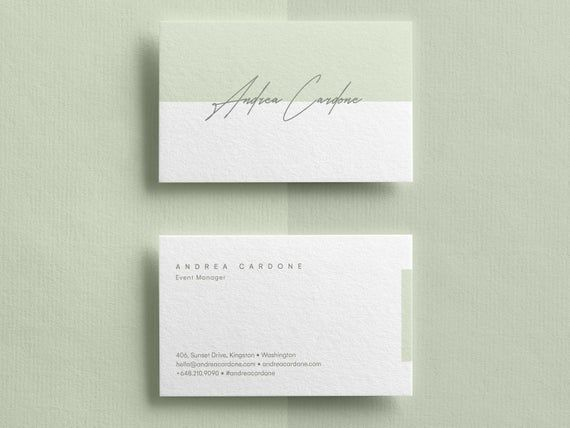 Business Card Template Custom Business Cards Business Card Etsy In 2021 Business Card Design Minimal Printable Business Cards Business Card Design