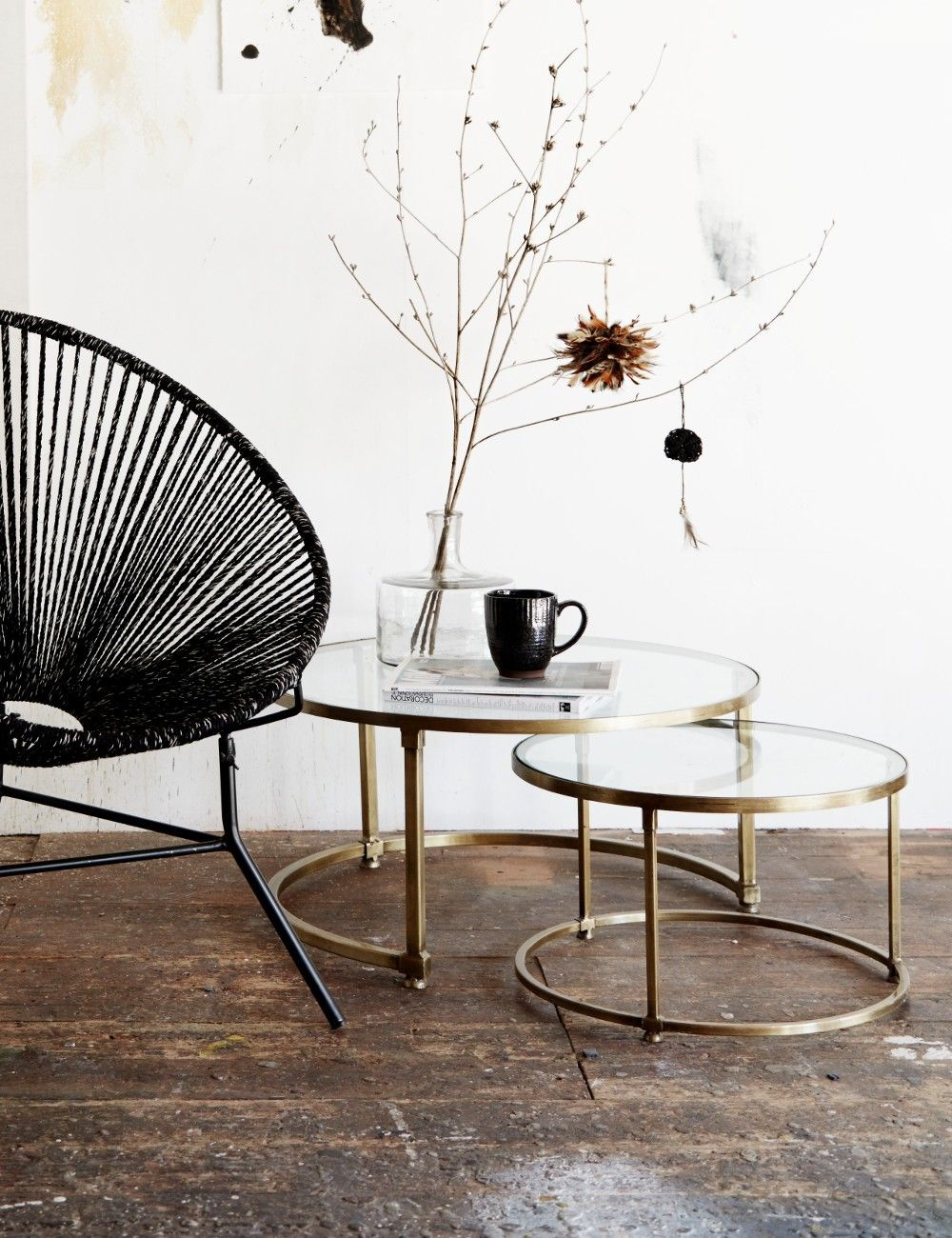 Buy The Stunning Coco Nesting Round Glass Top Coffee Table Stacking Set  With Beautiful Brass Frames Here At Rose U0026 Grey, And Enjoy FREE UK Delivery.