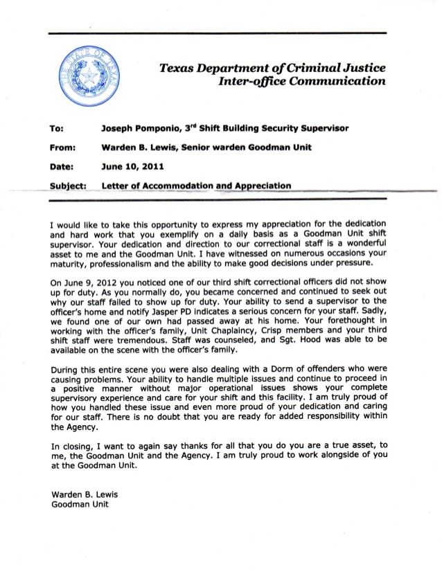 letter appreciation for great customer service download Home - inter office communication letter