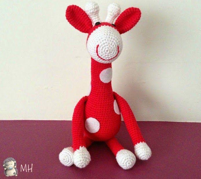 Jirafa amigurumi con patrón | animales crochet | Pinterest | Jirafa ...