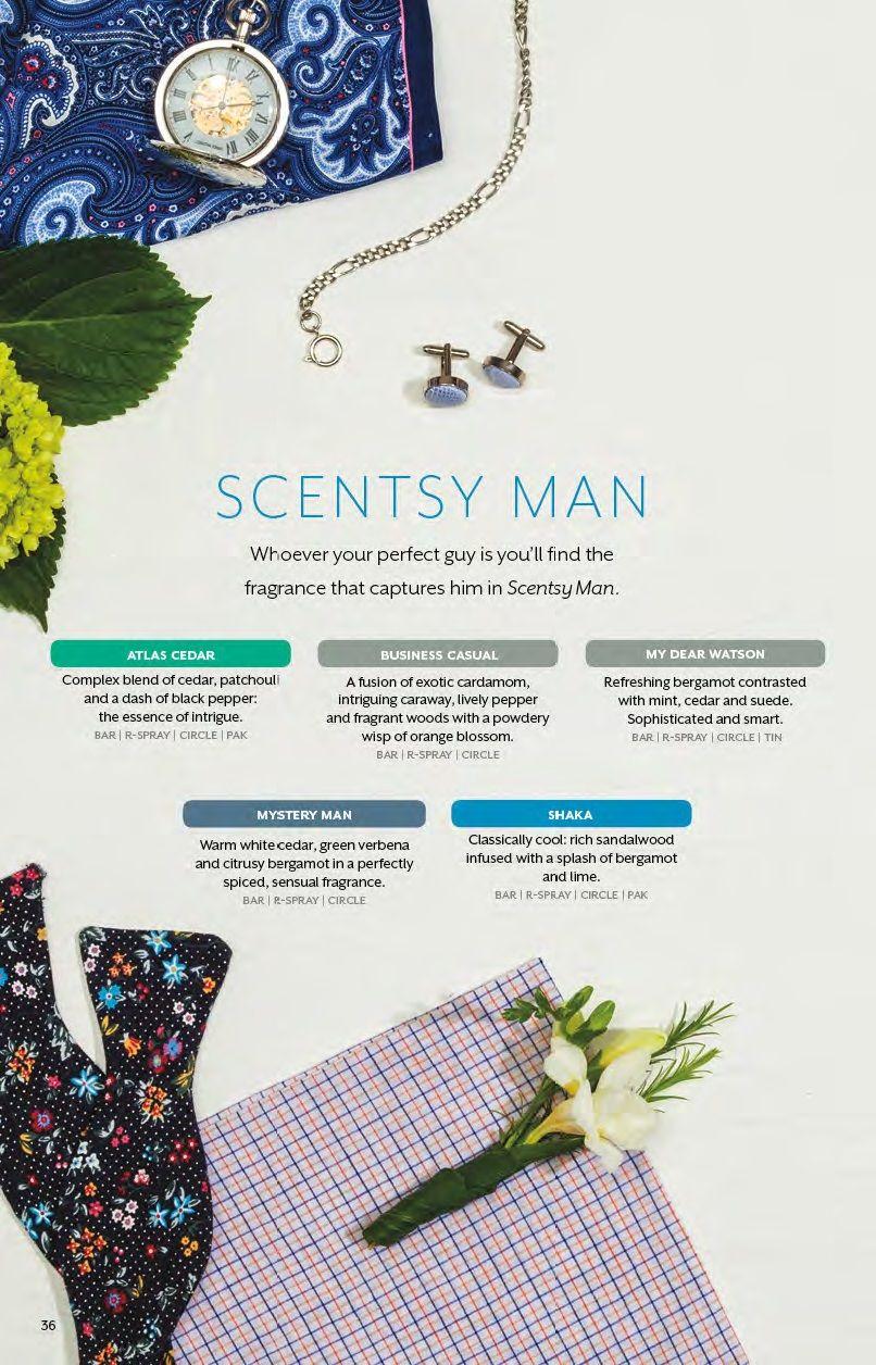 Scentsy, Scents, Man, Scentsy Man, Atlas Cedar, Business Casual, My Dear Watson, Mystery Man, Shakra