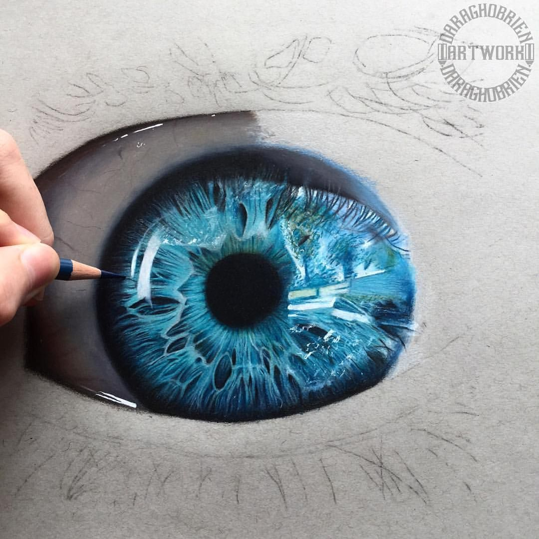"• Daragh O'Brien • on Instagram: ""Eye study W.I.P �️ reference from : @ad4mnz - I finally go..."