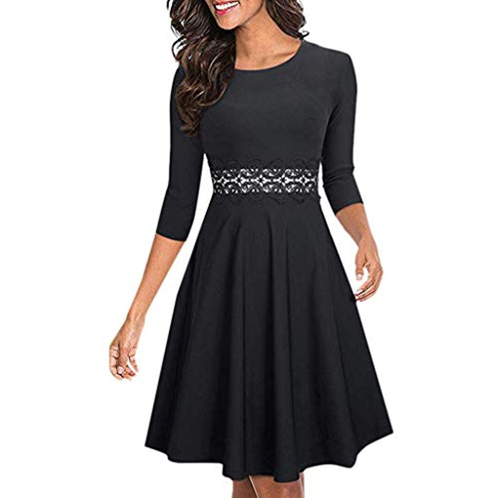 Online kaufen Bestbewertet echt Outlet zu verkaufen LoveLeiter Damen Elegant Sommerkleid Cocktail A-Linie mit ...