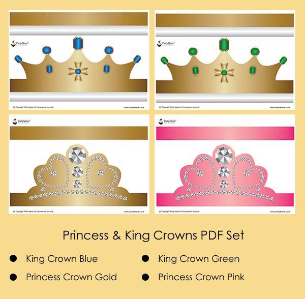 Seasonal Princess Party Hats  Crafts    Princess Party