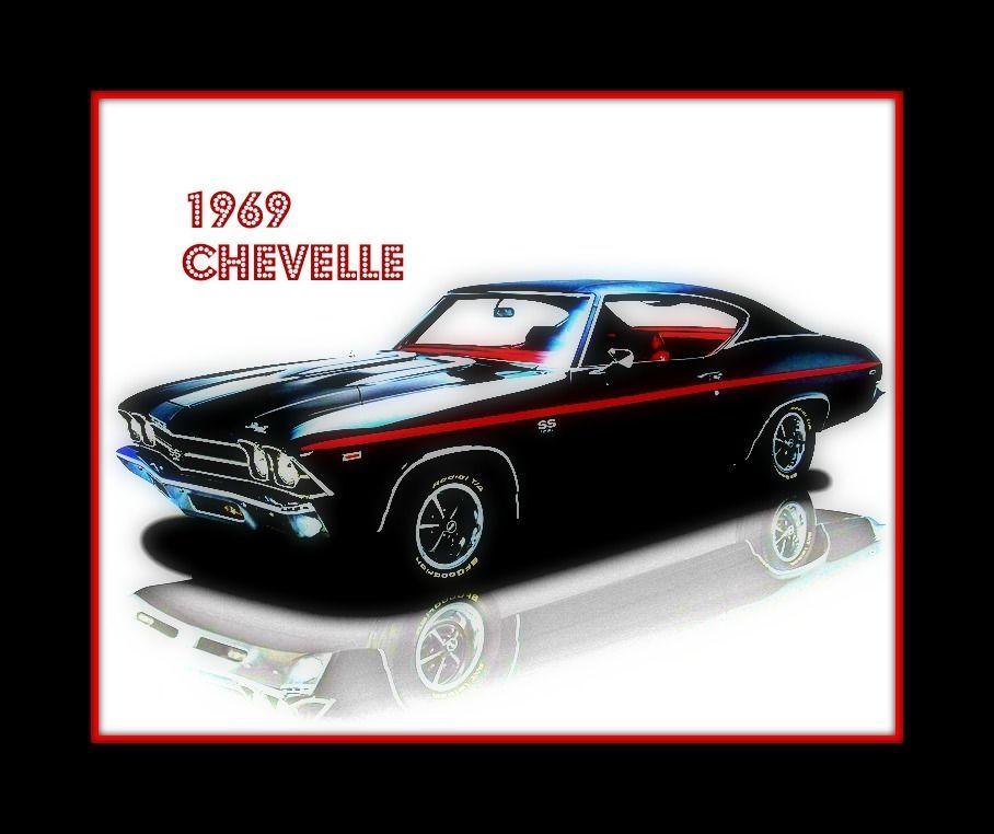 1969 Chevelle Vintage Muscle Car Art Print   eBay   Muscle Cars ...