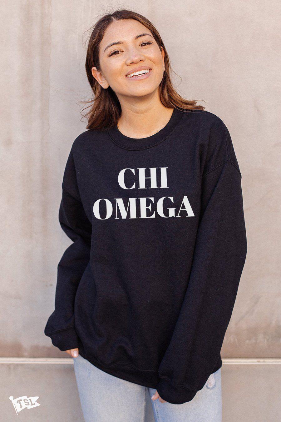 Chi Omega Vogue Crewneck Chi Omega Sweatshirt Vogue Crew Neck [ 1350 x 900 Pixel ]