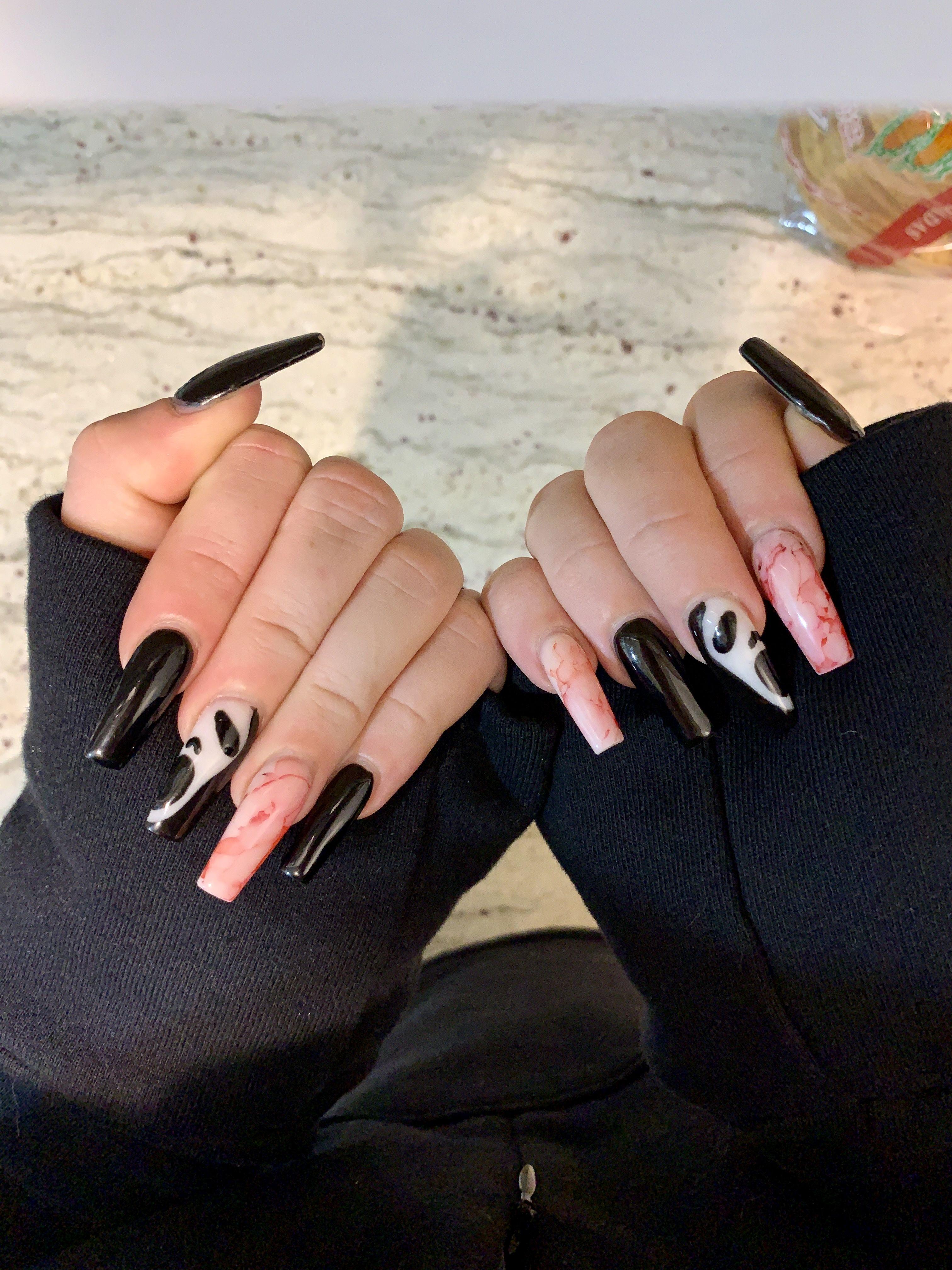 Halloween Scream Nails Nails Nail Inspo Beauty