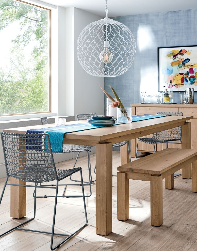 Walker Natural 65 Dining Table Products In 2019 Metal