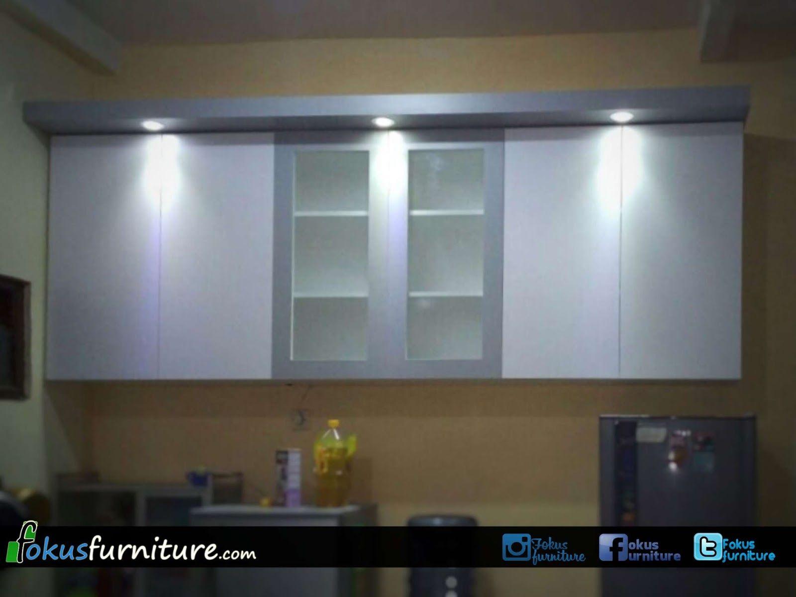 Kitchen set putih abu duren sawit | Fokusfurniture.com kitchen set ...