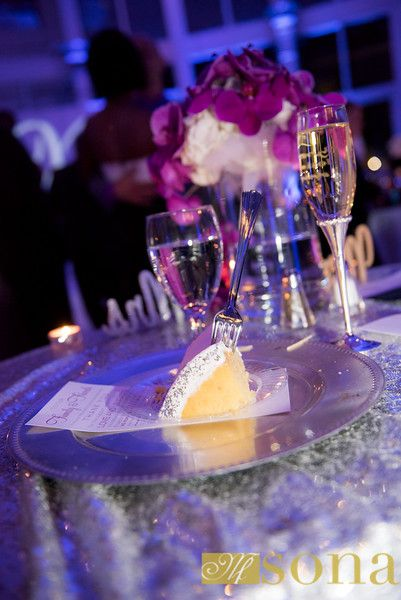 Cocktails Catering Table Settings and Champagne at Orlando Museum of Art - Orlando Florida Wedding