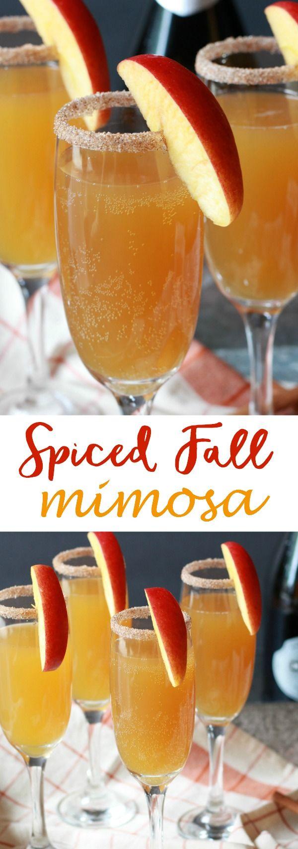 Spiced Fall Mimosa - The Lucky Pear