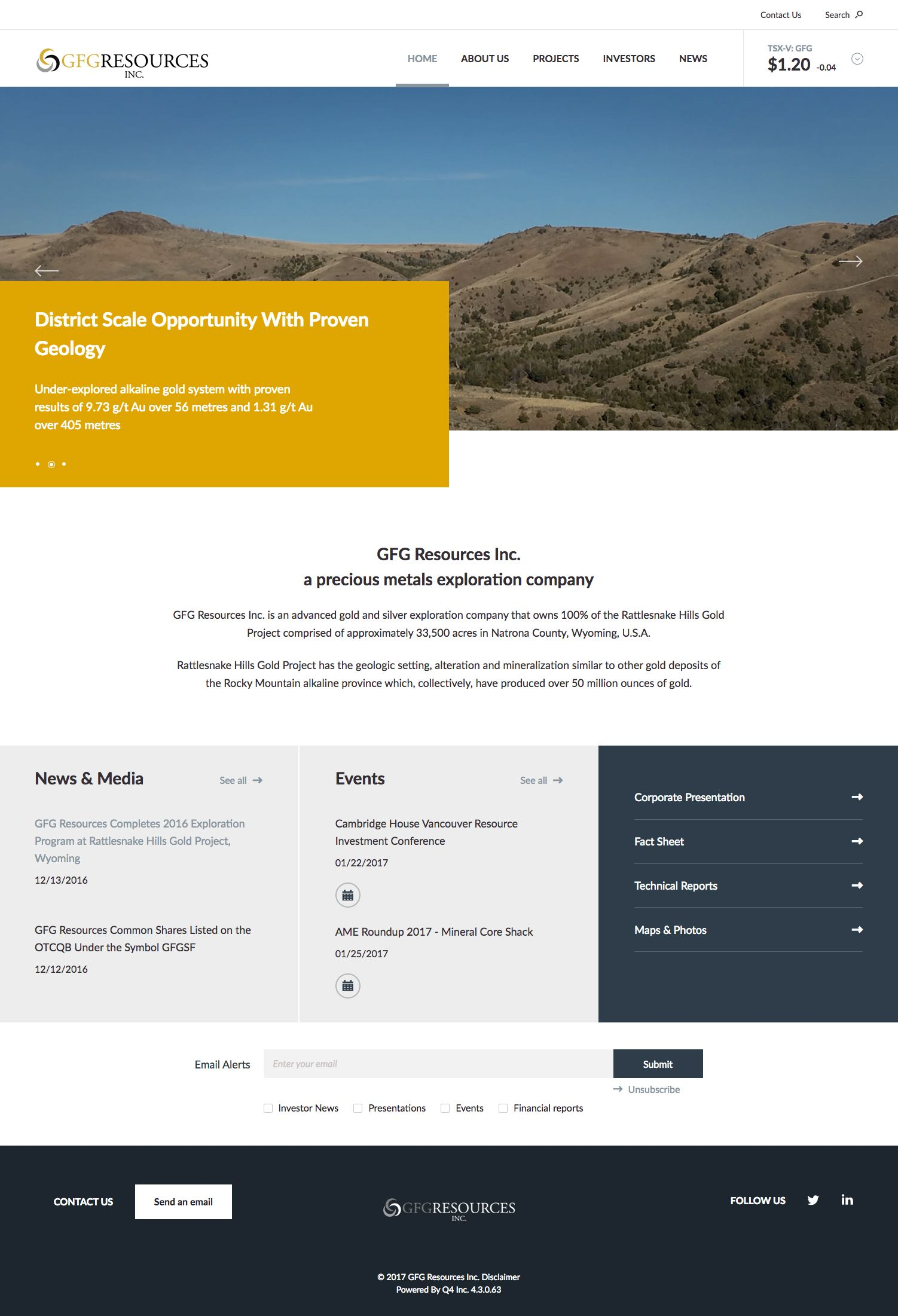 Gfg Resources Full Redesign Responsive Site Design Geology Corporate