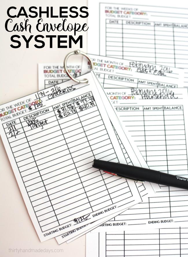Cashless Cash Envelope System | Cash-umschläge, Speiseplaner und Säulen