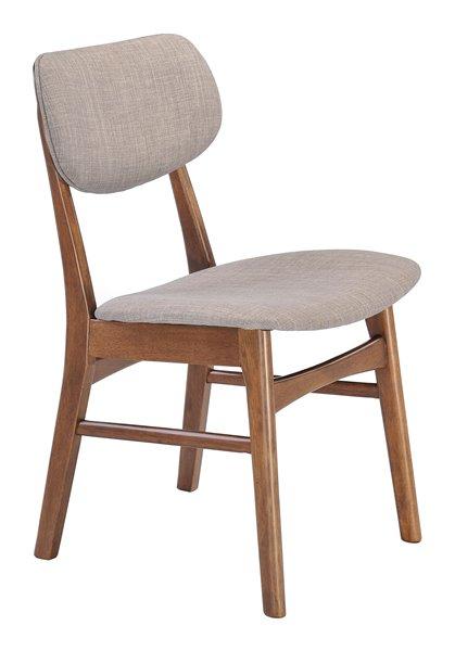 Zuo Modern Midtown Dining Chair 17 7 In Linen Grey Set